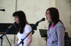 Sarah and Debbie singing at Music X